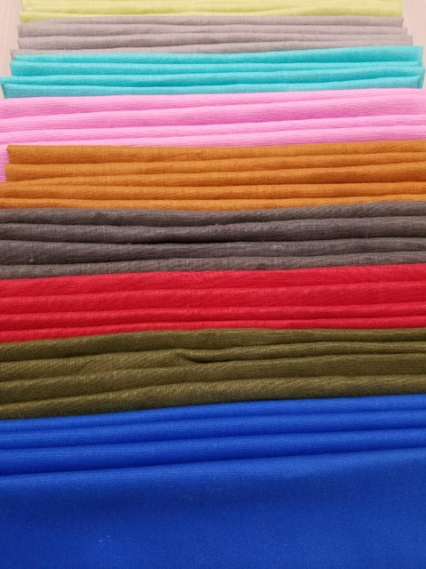 Photo of folded multi-color fabrics